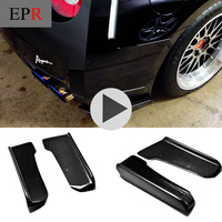 Car styling For Nissan 2009 2010 R35 GTR Carbon Fiber J Style Rear Bumper Extension Glossy Fibre Auto Body Kit Racing Corner