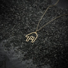 Фото - Tiny Rock Roll Hand Gestures Necklace Hiphop ASL I Love You Palm Sign Language Necklace Simple American Rock on Necklaces victor i vieth on this rock