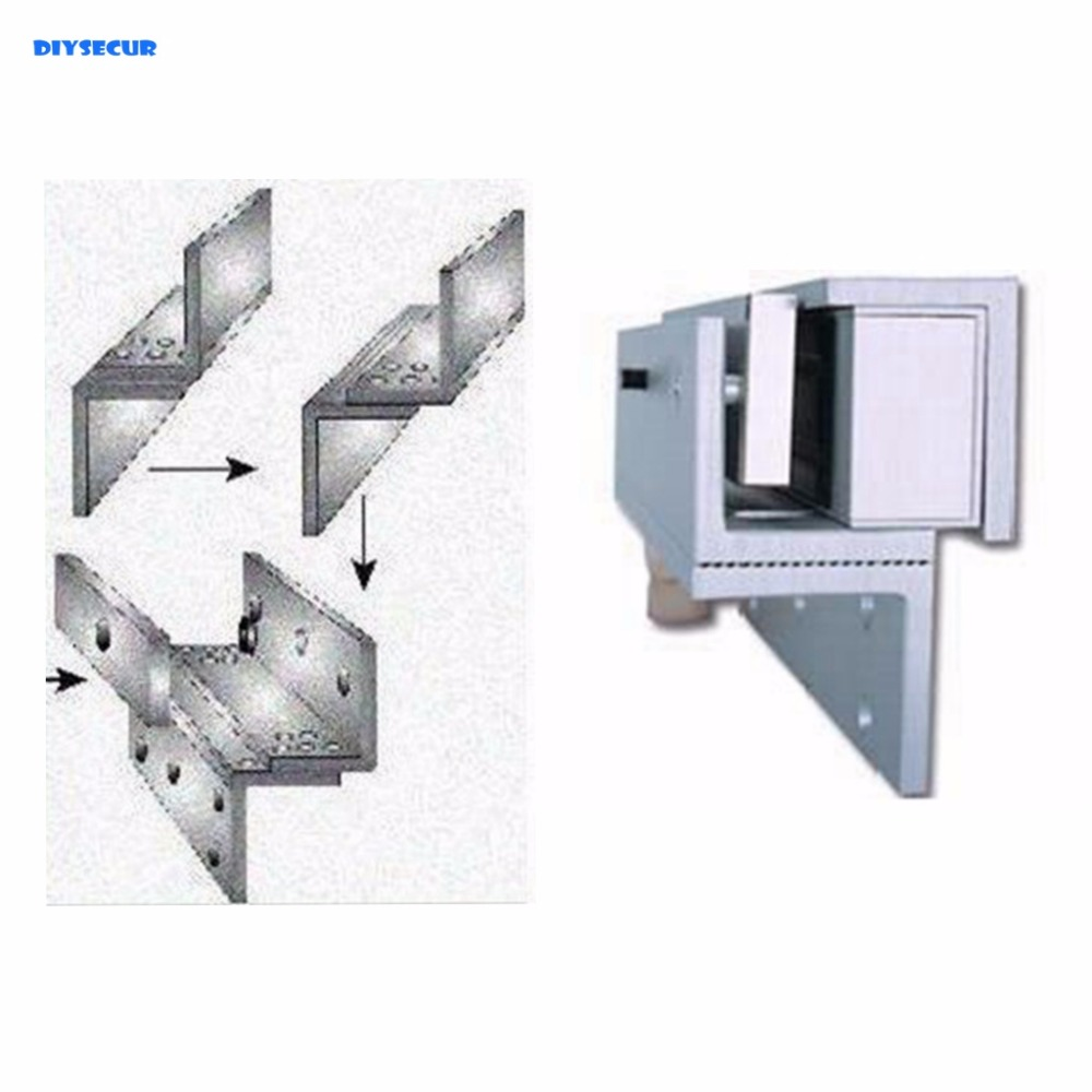 DIYSECUR Z L-Bracket 180KG Magnetic Lock Bracket For Inward Door Lock Install On Wooden Metal Door Frame x6 rfid door entry system 180kg magnetic lock and u bracket for glass door