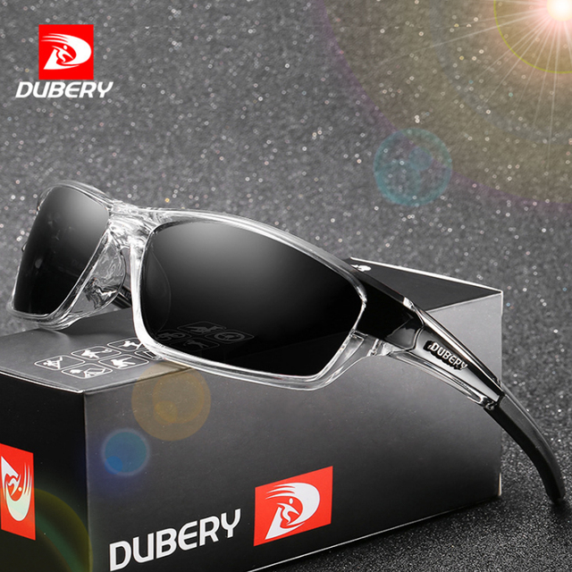DUBERY Polarized Night Vision Sunglasses Men's Retro Male Sun Glasses For Men Driver Brand New Luxury Mirror Shades Oculos