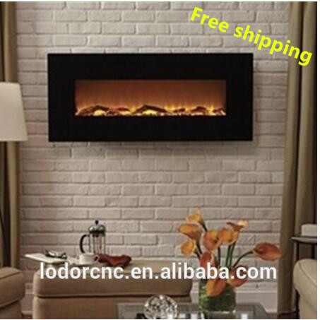 Free Shipping To Philippines Wall Mounted Electric Fireplace Heating