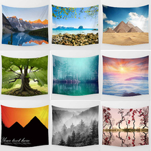 цена на Beauty forest tapestry scenery  pretty tapestries Wall Hanging Printed home decoration tapestry sea beach pattern tapestry