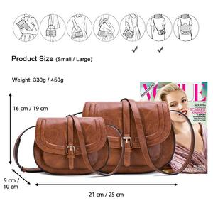 Image 4 - Модная сумка через плечо AFKOMST и маленькая сумка кошелек для женщин, винтажная Сумка седло и сумка через плечо высокого качества CT20154