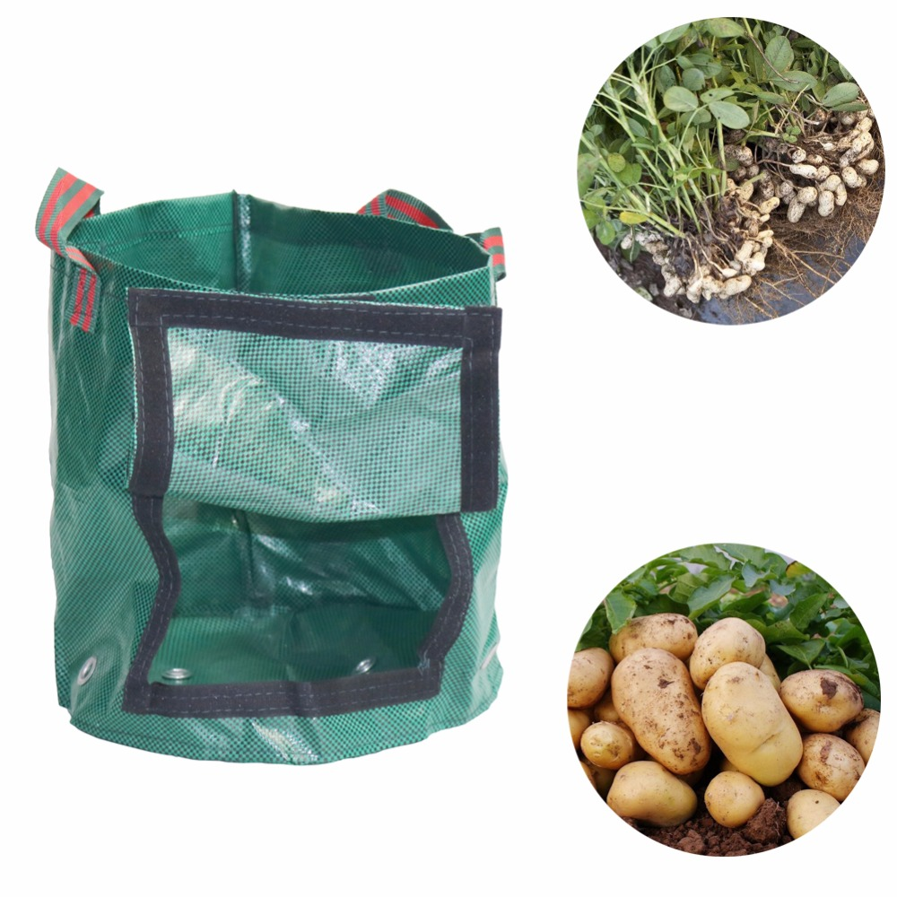 1pcs Potato Cultivation Planting bags PE Woven Fabric grow Bags Home Garden Farm Vegetables Flowers Grown pots gardening fitting