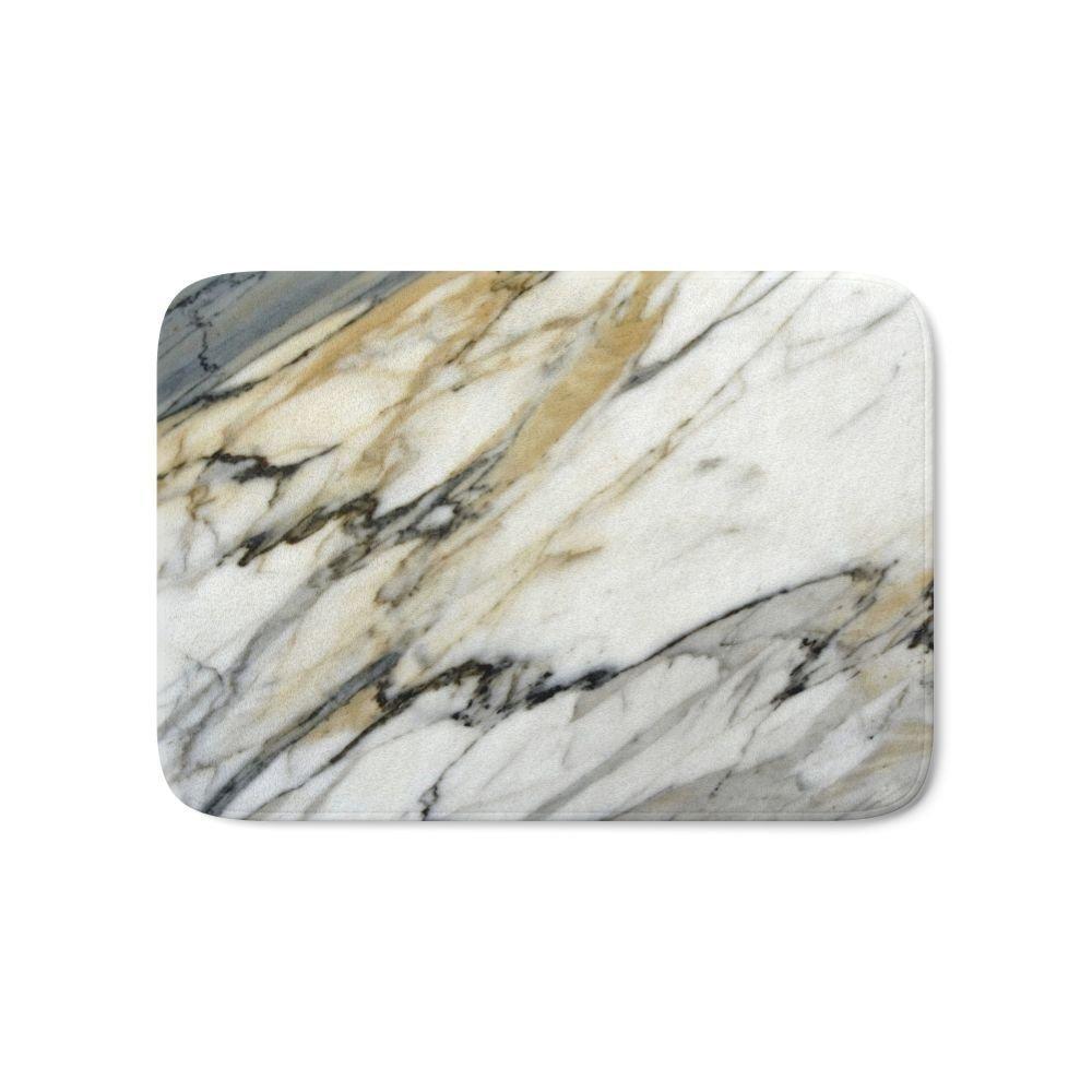 Carrara Marble Bath Mat Entrance Door Mat Bathroom Kitchen
