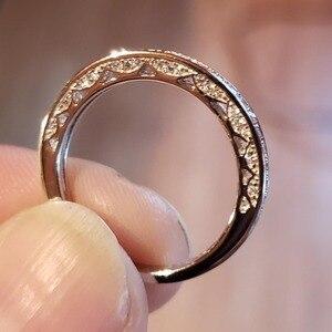 Image 5 - Newshe 925 Sterling Silver prosto wieżowych obrączka obrączka zaręczynowa dla kobiet Trendy biżuteria rozmiar 5 12