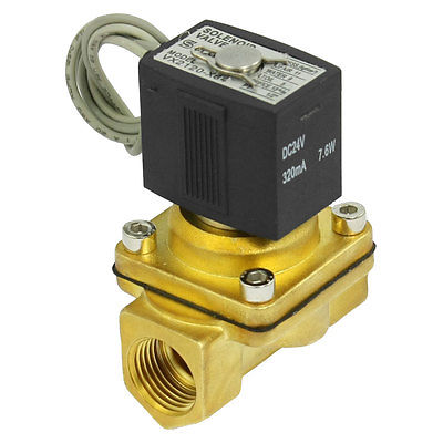 High quality 320mA DC 24V 3/8PT Thread Two Way 2 Position Air Solenoid Valve  Free shipping high quality ac220v 2v025 electromagnetic 2 position 2 way solenoid valve free shipping