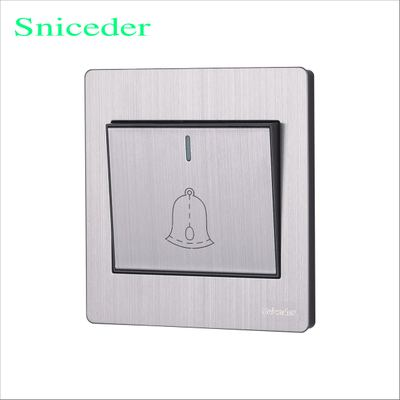 86 wall switch panel S8 stainless steel wire drawing a doorbell button switch ...