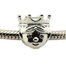 Se adapta a Pandora Pulseras Preciosas Prince Charm 100% Plata Esterlina 925 joyería de plata del grano DIY al por mayor envío gratuito