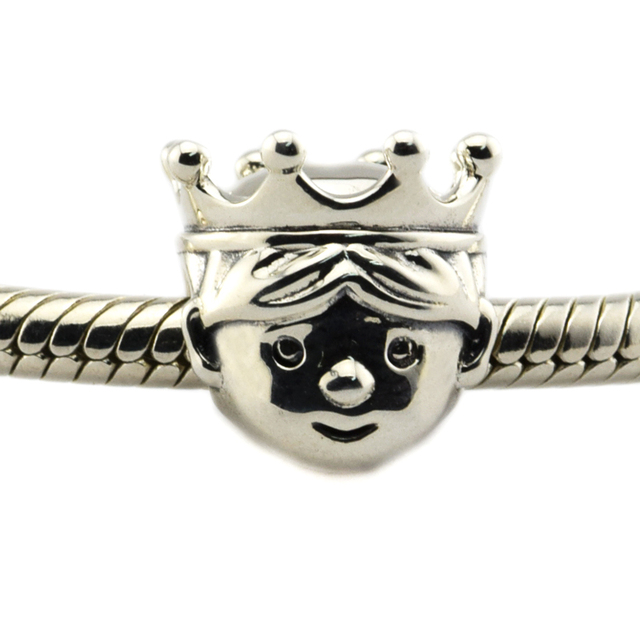 Fits Pandora Bracelets Precious Prince Charm 100% 925 Sterling Silver jewelry silver bead DIY wholesale free shipping