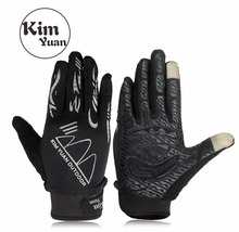 KIM YUAN 037/38 Touch Screen Sun Protection Safety Gloves, for Mountain Biking, Running, Hiking,General Using, Black Men & Women