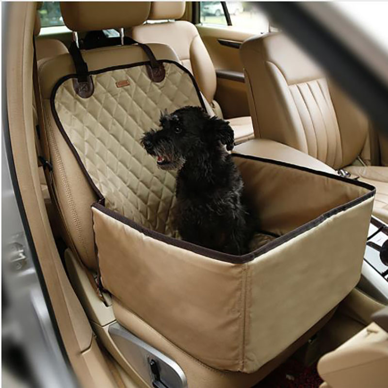 HJKL Doglemi Nylon Waterproof Dog Bag Pet Car carrier Dog Car Booster Seat Cover Carrying Bags for Small Dogs Outdoor Travel 55