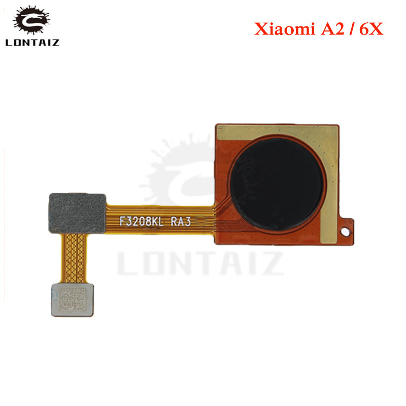 for Xiaomi Mi A2 Mi 6X Fingerprint Sensor Scanner Connector Home Button Key Touch ID Flex Cable Repair Spare Parts Test QC in Mobile Phone Flex Cables from Cellphones Telecommunications