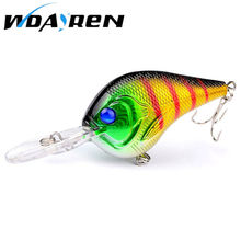 WDAIREN 1pcs Crankbait  Wobblers 10cm 11g Hard Fishing Tackle Swim bait Crank Bait Bass Fishing Lures 8 Colors pike perch FA205