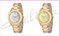 MELISSA Produced Elegant Ceramic Watch Women Business Statement Wrist watch Workable 3 Eyes Bracelet Relogios Montre Femme F8031