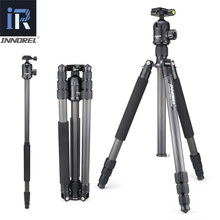 INNOREL RT70C Carbon Fiber Professional Heavy Duty Camera Tripod Monopod for Nikon Canon DSLR Video with Panoramic Ball Head puluz heavy duty video camera tripod action fluid drag head with sliding plate for dslr