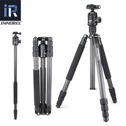 INNOREL RT70C Carbon Fiber Professional Heavy Duty Camera Tripod Monopod for Nikon Canon DSLR Video with Panoramic Ball Head