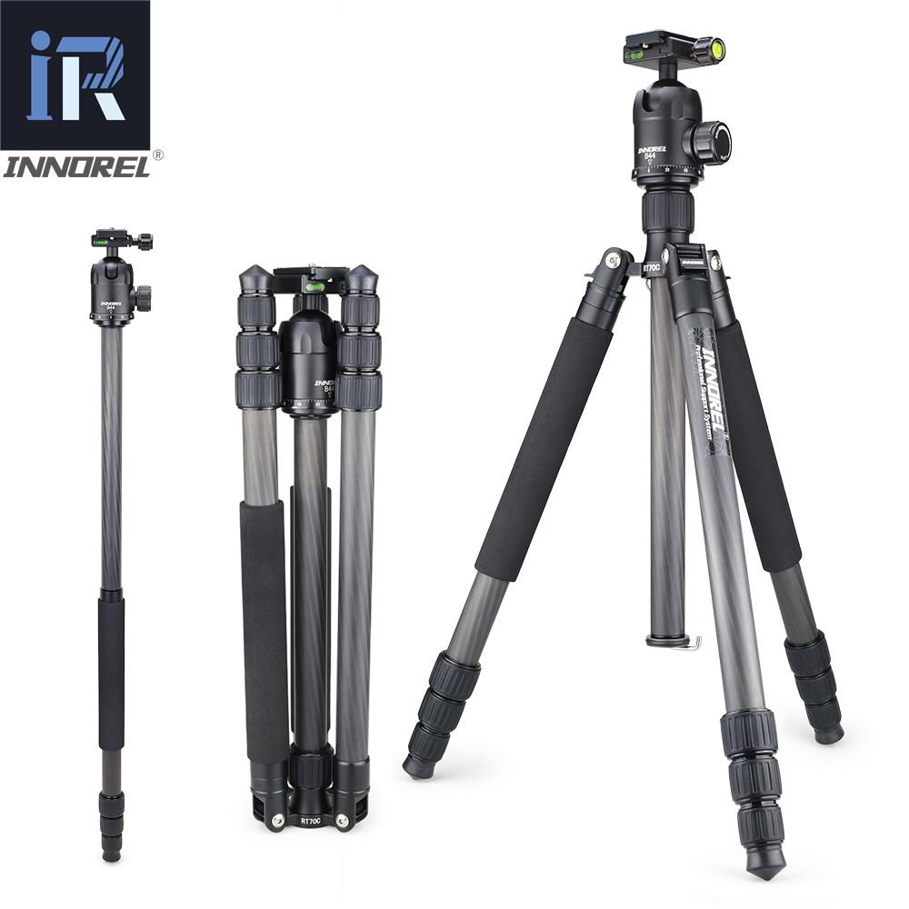 INNOREL RT70C Heavy Duty Tripé de Câmera Monopé De Fibra De Carbono Profissional para Nikon Canon DSLR Vídeo com Panorâmica Bola Cabeça