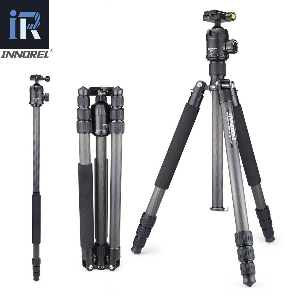 INNOREL RT70C คาร์บอนไฟเบอร์ Professional Heavy Duty กล้องขาตั้งกล้อง Monopod สำหรับกล้อง Nikon Canon DSLR วิดีโอ Panoramic Ball Head-ใน ขาตั้งกล้อง จาก อุปกรณ์อิเล็กทรอนิกส์ บน AliExpress - 11.11_สิบเอ็ด สิบเอ็ดวันคนโสด 1