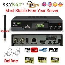 Skysat H.265 Satellite TV Receiver Decoder IPTV M3u S2020 HD