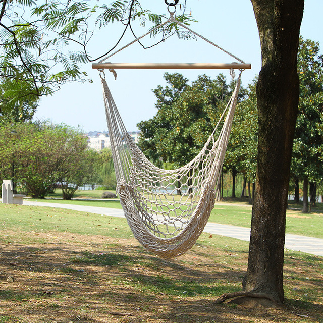 Merveilleux Outdoor Hammock Chairs High Strong Mesh Hanging Swing Cotton Rope Net  Cradles Garden Kids Adults Children