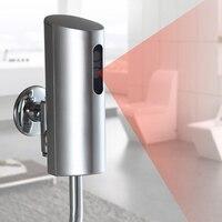 Pil kumandalı otomatik tuvalet pisuar gömme sensörü otomatik dışkı vana yüzeye monte