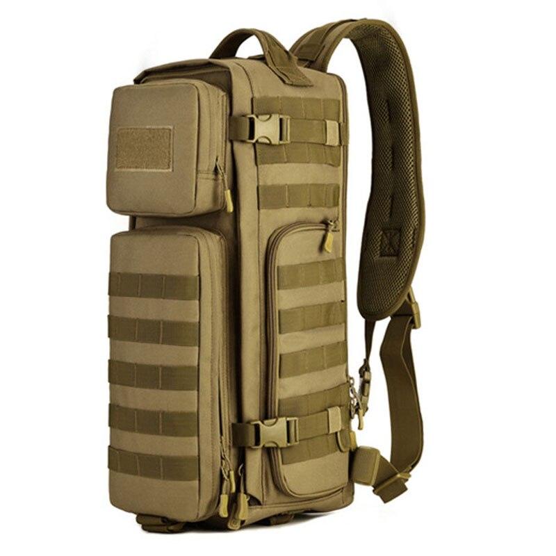 陸軍ファン戦術ビッグ胸バッグ多機能ナイロン男性のシングルショルダーバッグ高品質男性の突撃クライミングバッグ  グループ上の スーツケース & バッグ からの クロスボディ バッグ の中 1