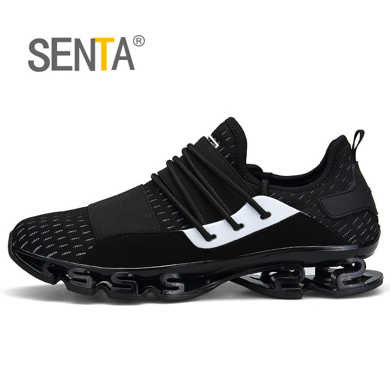 Big Size Summer Blade Cushioning Men Running Shoes Trekking Light Sports Shoes Breathable Mesh Outdoor Jogging Gym Sneaker