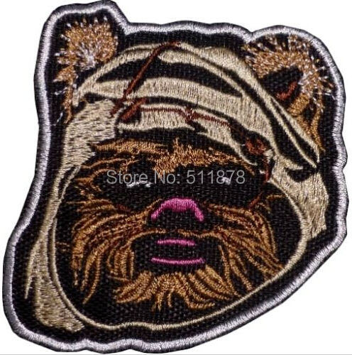 Ewok Face Star Wars Return of Jedi Han Solo Darth Vader Empire TV Movie Applique Uniform