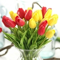 1pcs Tulip Artificial Flower PU artificial Real touch Silk flowers For Home Wedding decorative flowers & wreaths