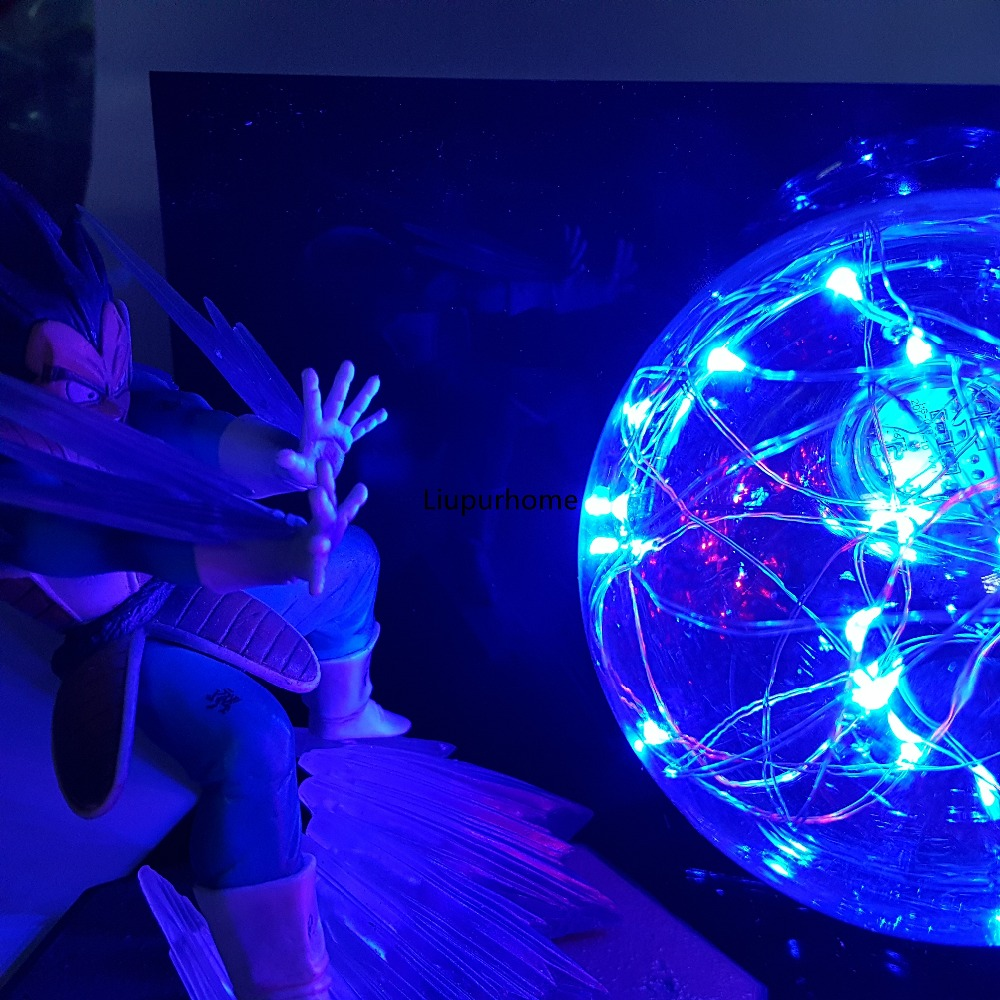 Dragon Ball Z Goku Vegeta Battle Led Night Light Bulb Dragon Ball Lampara Son Goku Lamp For Bedroom