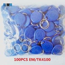 100 قطعة/الوحدة 125 كيلو هرتز تتفاعل EM4100 TK4100 مفتاح Fobs علامات رمزية Keyfobs المفاتيح بطاقة الهوية قراءة فقط التحكم في الوصول بطاقة تتفاعل