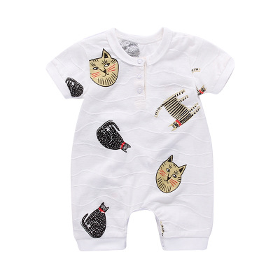 Pasgeboren zomer korte mouw romper babymeisje jongen jumpsuit - Babykleding - Foto 5
