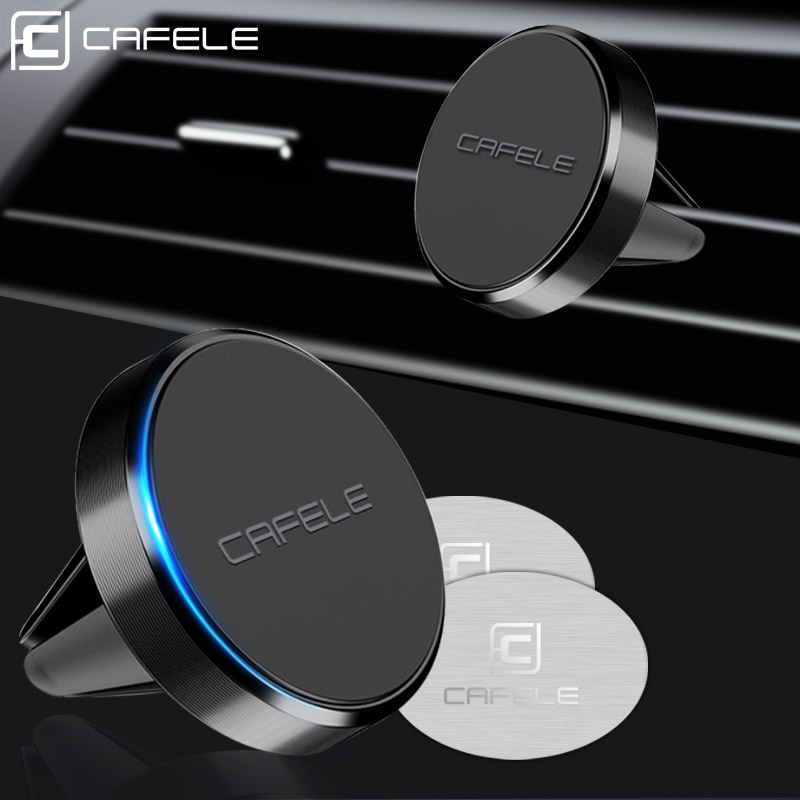 CAFELE New Air Vent Mount Magnetic Car Phone Holder Universal Mini Strong Magnet Desk Wall Key Stand Non Rotate Type