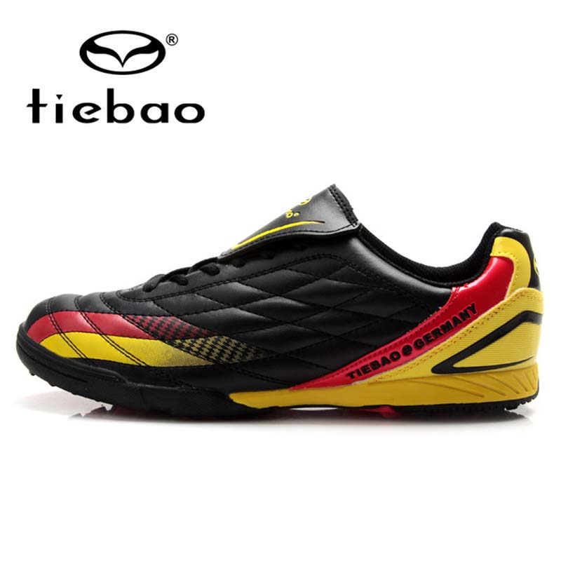 TIEBAO Professional black Men Boy Kids Soccer Cleats Turf Football Soccer Shoes TF Sneakers Trainers New Design football boots vizari mens sorrento m soccer cleats silver black 93253
