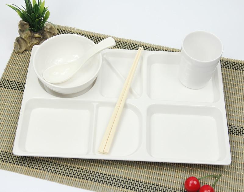 16 Inch Korean Plastic Fast Food Tray Lunch Bento Box