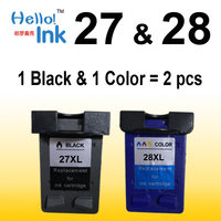 2PK Ink Cartridge For HP 27 For Hp 28 Compatible For HP Deskjet 450 450CI 5550