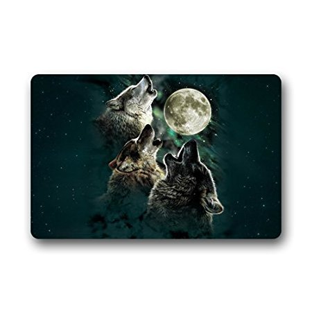 CHARMHOME Fashion Living Room Doormat Wolf Howling at Moon Doormat Custom Door mat Home decor Carpet Fashion Rug