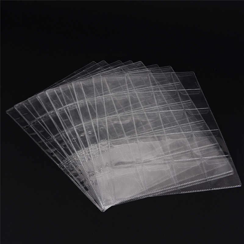 1/2 Halaman 20/30/42 Saku Album Halaman Pemegang Folder Lembar untuk Klasik Koin Penyimpanan Koleksi Album