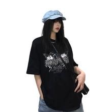 NiceMix Harajuku Streetwear Hip Hop Short Sleeve T-shirt For Women Clothing 2019 Summer Korean Vintage Printed Tshirt Femal New