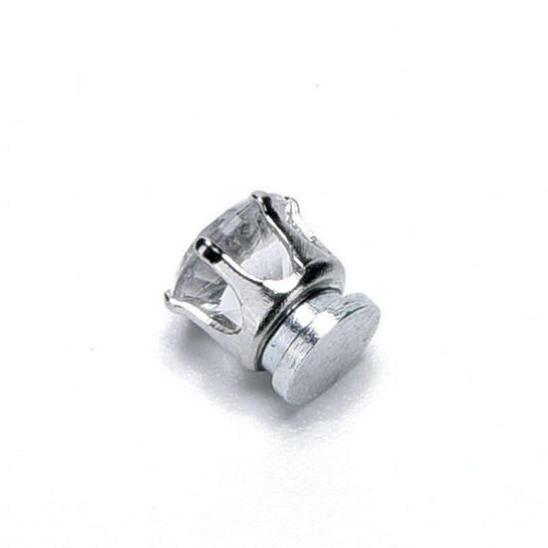 48671fb4926 1 Pair Fashion Crystal White Black Rhinestone Magnet Stud Earring ...