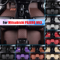 Waterproof Car Floor Mats For Mitsubishi PAJERO V93 All Season Car Carpet Floor Liner Artificial Leather Full Surrounded