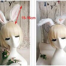 Плюшевый кролик с ушами Косплей Аниме заслуживаете играть роль реквизит Лолита обруч для волос с бантиком