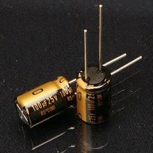30PCS new Japanese original nichicon audio electrolytic capacitor KZ 100Uf/25V free shipping