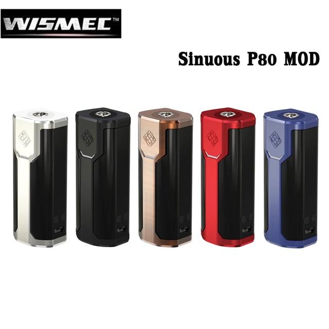 Оригинальный wismec извилистые P80 80 Вт извилистые P80 поле mod электронная сигарета VAPE испаритель Поддержка elabo Мини Танк RTA РБА RDA RTA