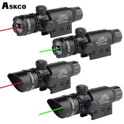 Tactische Red Green dot Sight laser Geweren omgaan inclusief 11mm en 20mm mounts met tactische staart schakelaar riflescope voor jacht