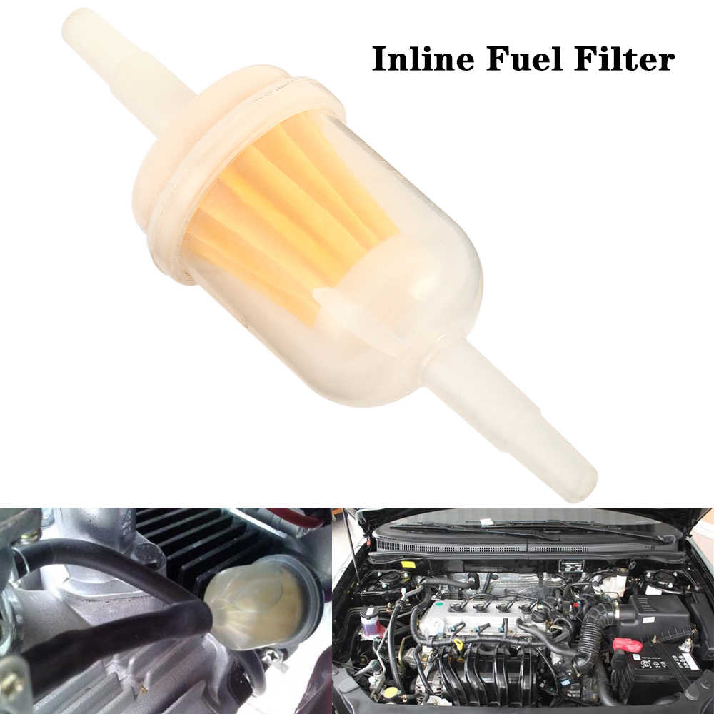 inline fuel filter small universal fit 6mm and 8mm pipes motorcycle oil cups gasoline filter cup [ 1000 x 1000 Pixel ]