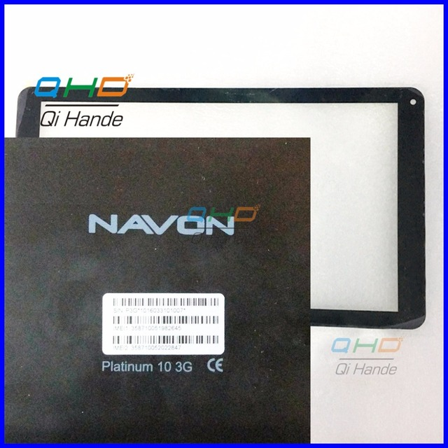 Black New For 10.1'' inch navon platinum 10 3g Touch Screen Panel Digitizer Sensor Repair Replacement Parts Free Shipping