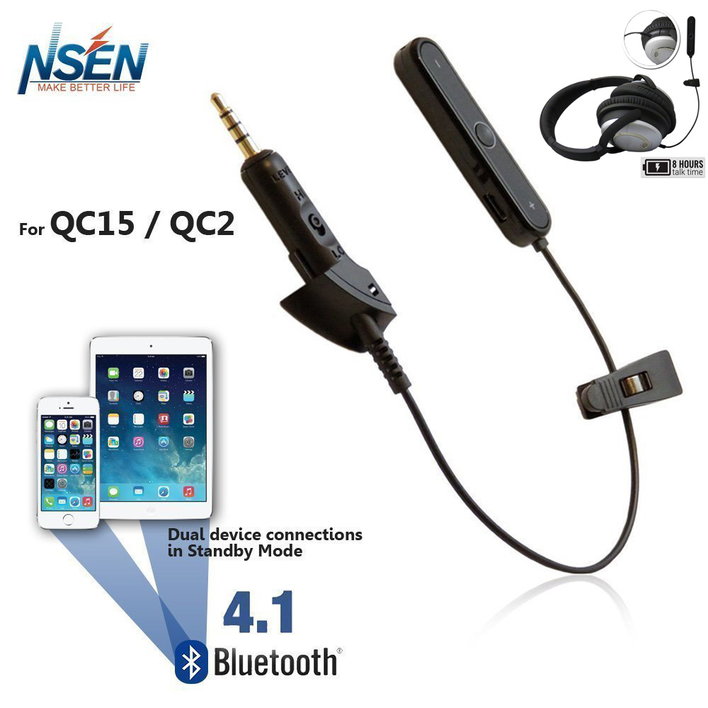 NSEN Bluetooth Adapter for Bosen QuietComft15 QC15 QuietComft 2 QC2 Noise Cancellation Headphone -Enable Bluetooth Function