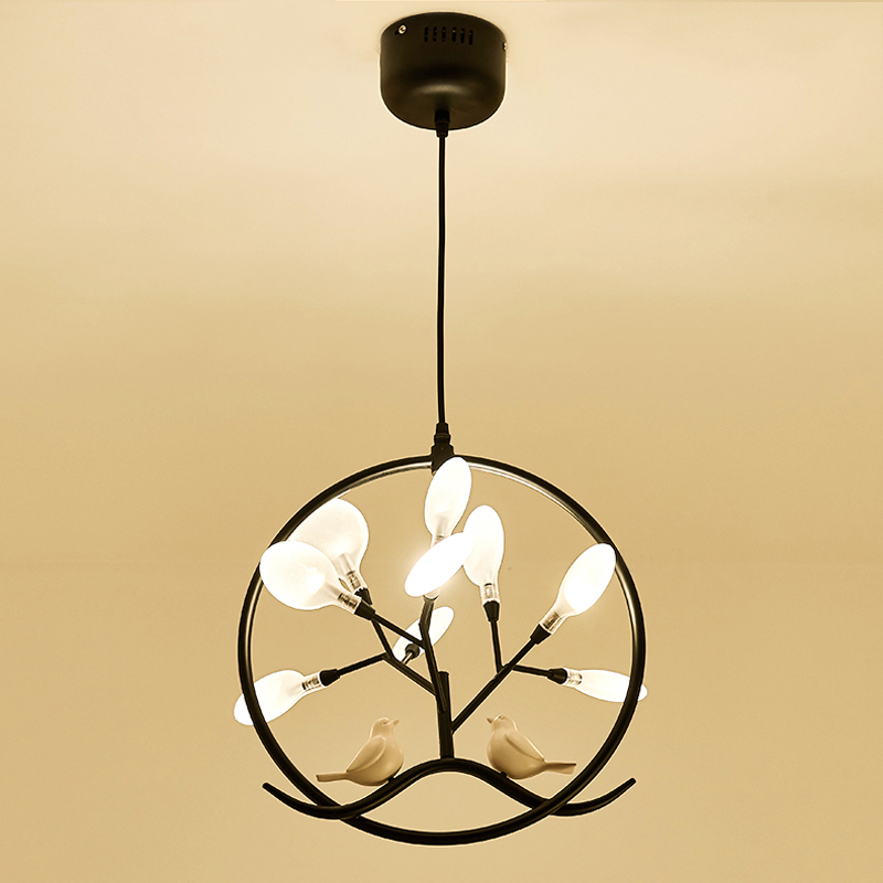 Lumière nordique moderne Simple salle à manger chambre vêtements chapeau chambre suspension lampe créative porche couloir ménage pendentif LED lumière